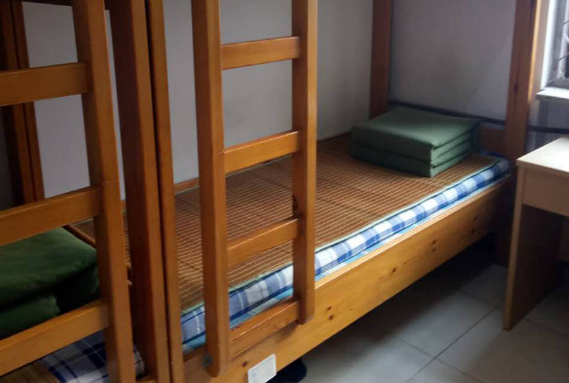 Bunk beds in a dormitory at Yancheng Prison, Hebei province, Sept. 22, 2016. Liang Ao for Sixth Tone