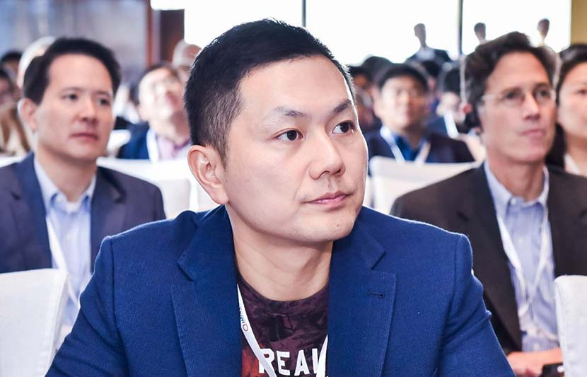Goti Deng, co-founder of UBTech, listens to a presentation at a conference in Shanghai, November 2016. Courtesy of UBTech