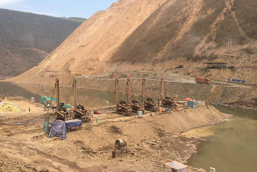 The construction site of the Jiasa River hydropower station in Jiasa Town, Yunnan province, March 2017. Courtesy of Xi Zhinong/Wild China Film
