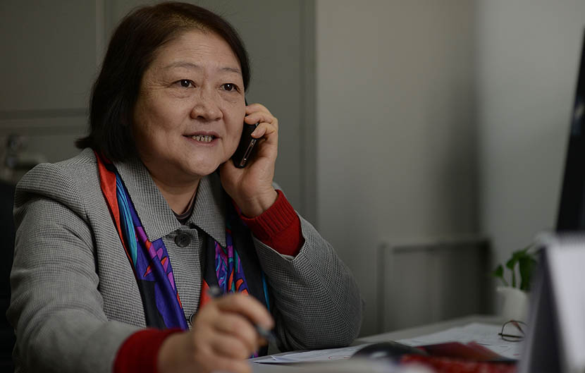 Sun Xiaomei in her office in Beijing, Dec.16, 2013. Huang Liang/VCG