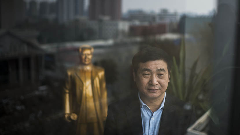 Kan Quancheng, president of Zhengzhou First, poses for a portrait, in Zhengzhou, Henan province, March 23, 2016. Wu Yue/Sixth Tone