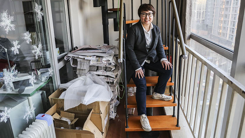 Zhao Jing, founder of Yummy, poses in her office in Beijing, March 24, 2016. Li Kun/Sixth Tone