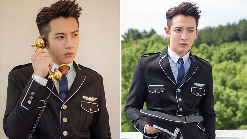 Promotional photos of Ko Chen-tung in his new role as a war-era cop. @xinlangyule from Weibo