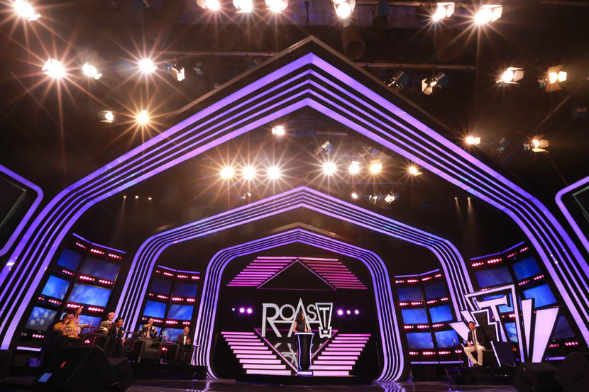 Wang Lin takes the stage during the first episode of 'Roast Convention,' Shanghai, June 9, 2016. Courtesy of 'Roast Convention'