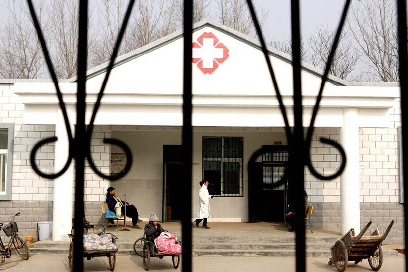 A public health clinic in Wenlou Village, Henan province, Jan. 15, 2005. Of the village's 3,000 inhabitants, more than 900 contracted HIV. An Guangxi/Sixth Tone