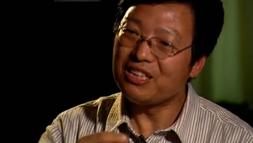 A screenshot from a CCTV interview with Yang Yongxin.