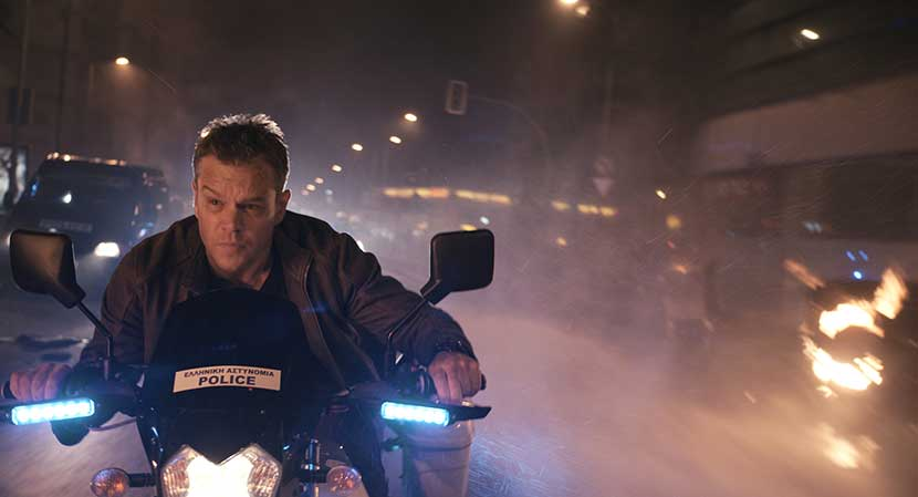 A still frame from the film 'Jason Bourne.'