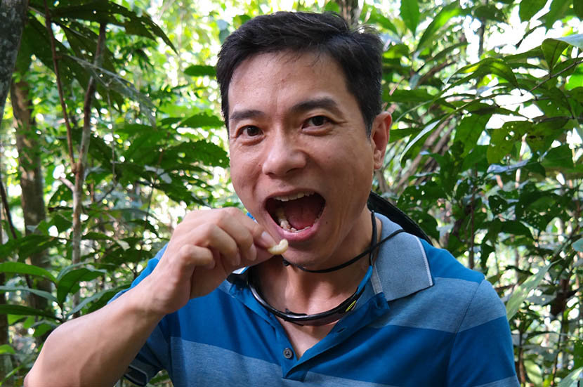 Robin Li, founder of internet giant Baidu, poses for a photo during filming of an episode of 'Absolute Wild.' From Robin Li's Tieba account