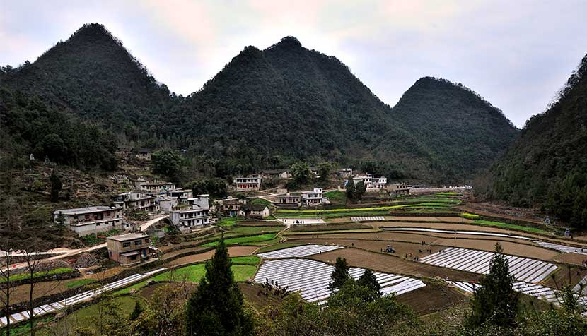 A view of Mahuai Village, Guizhou province, Jan. 18, 2016. Xu Fengshan/IC