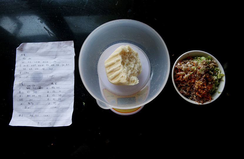 A dinner prescribed for a person with diabetes in Linfen, Shanxi province, July 27, 2016. According to special recipes, all ingredients must be weighed out carefully. Chen Wei/VCG