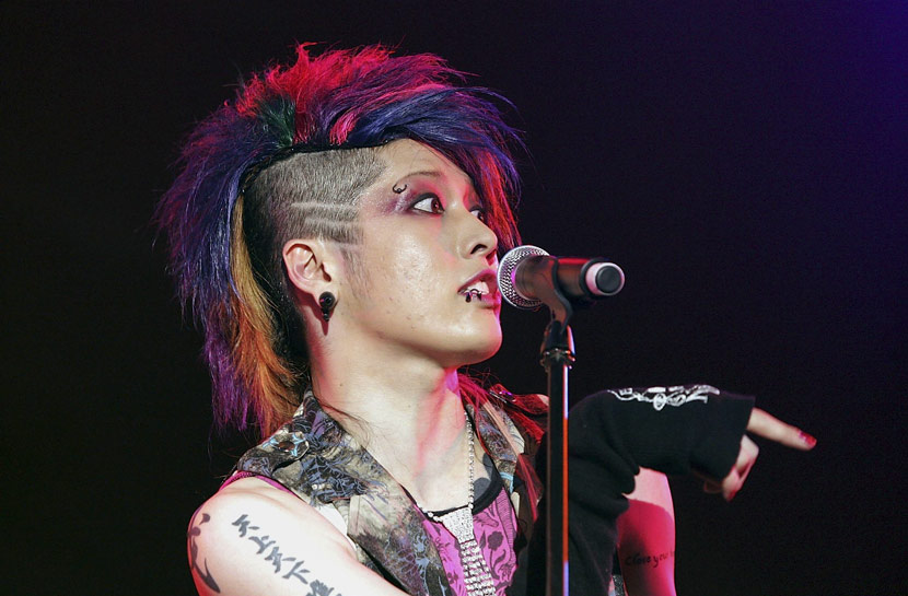Japanese rock musician Miyavi performs during a music festival in Incheon, South Korea, July 28, 2006. Chung Sung-Jun/Getty Images/VCG