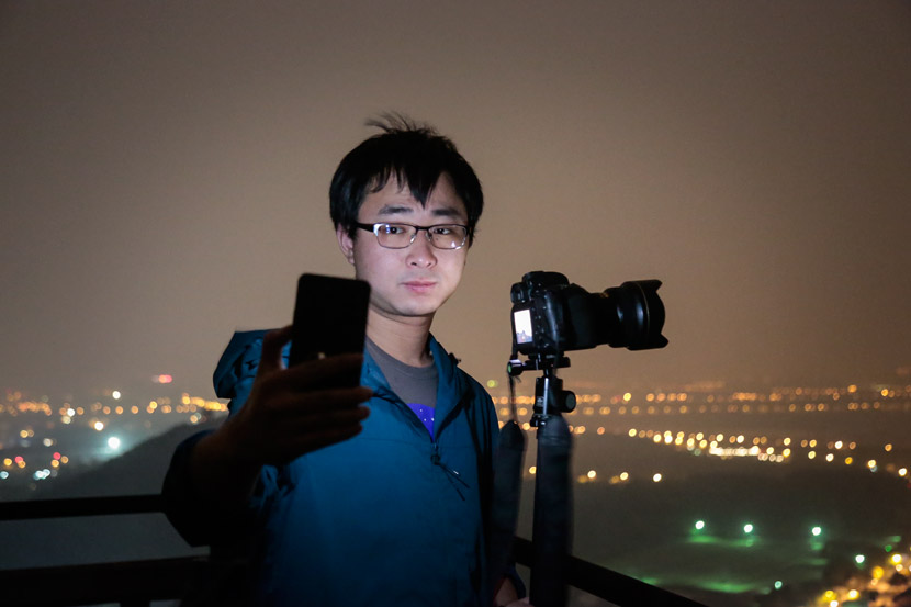 Dai Jianfeng poses for a photo at Sheshan Observatory, Shanghai, April 27, 2018. Courtesy of Tang Haiming