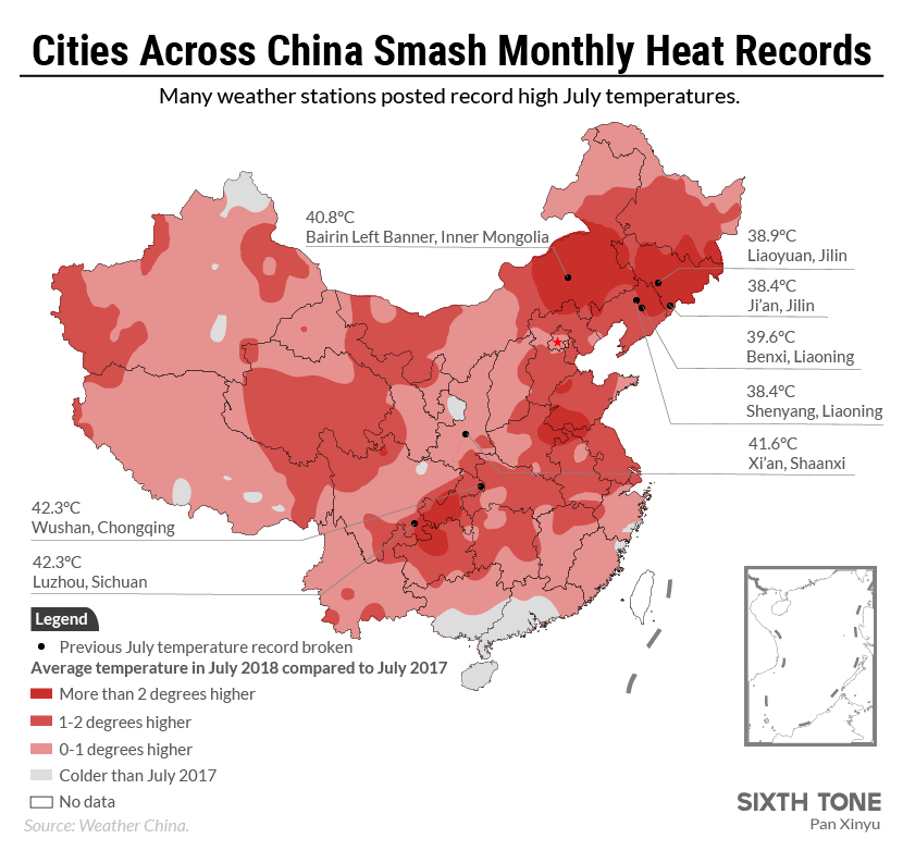 China's Scorching Heat Wave Brings a Glimpse of the Future