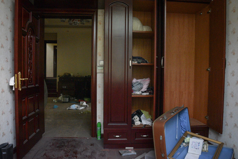 One of the rooms inside the villa where Tian Mingcheng was killed in Nanjing, Jiangsu province, June 7, 2018. Jia Shiqing/IC