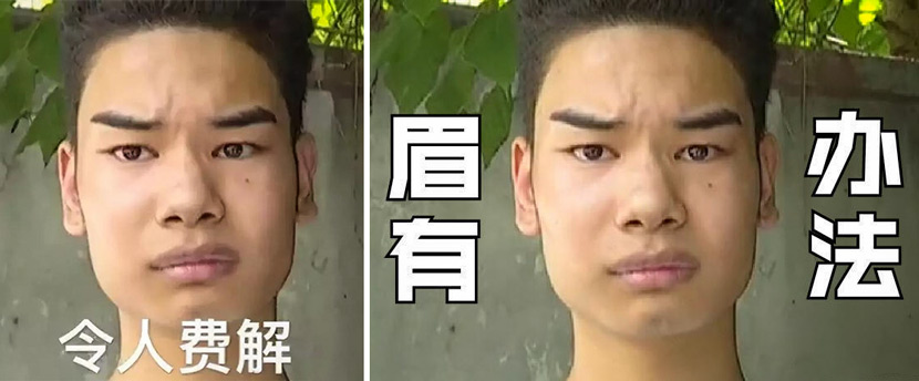 Memes of Wu Zhengqiang: 'very confusing' (left) and 'there's no way' (right). From Wu's Weibo account