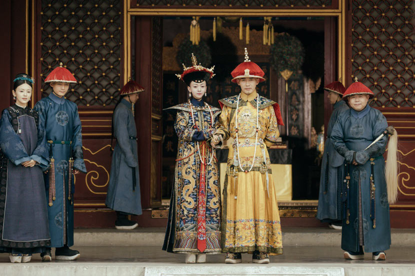 A still frame from the TV series 'The Story of Yanxi Palace.'  From Weibo user @电视剧延禧攻略