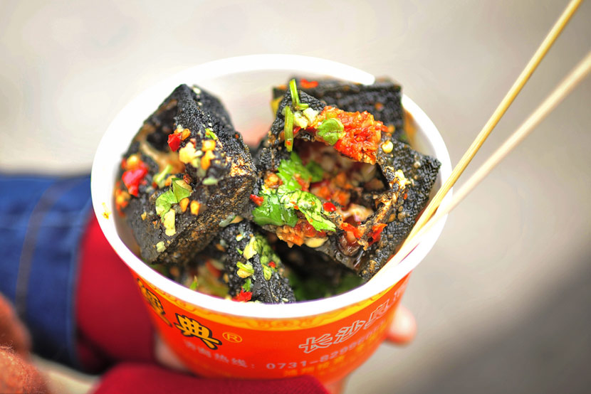 Stinky tofu in Changsha, Hunan province, Dec. 3, 2016. IC