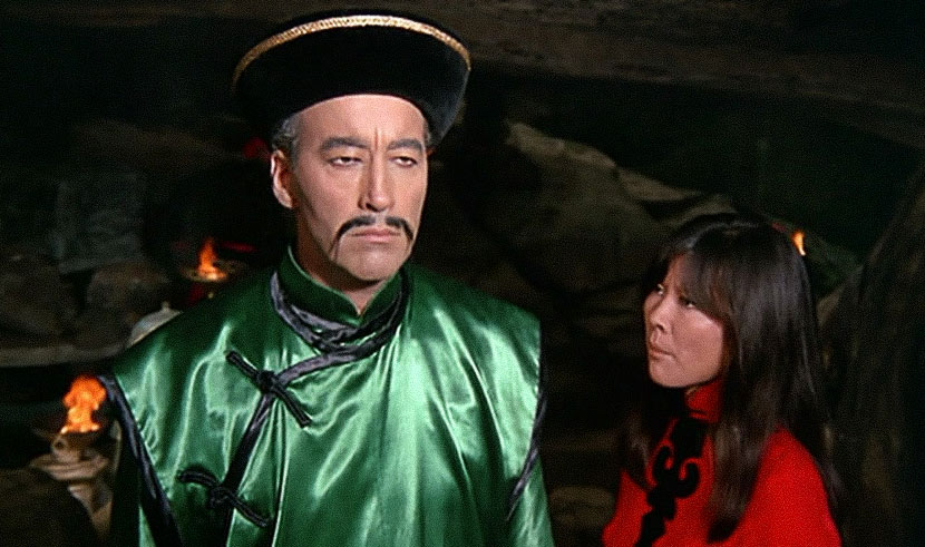 A screenshot from the 1968 film 'The Blood of Fu Manchu,' in which the titular character is played by British actor Christopher Lee. From Douban