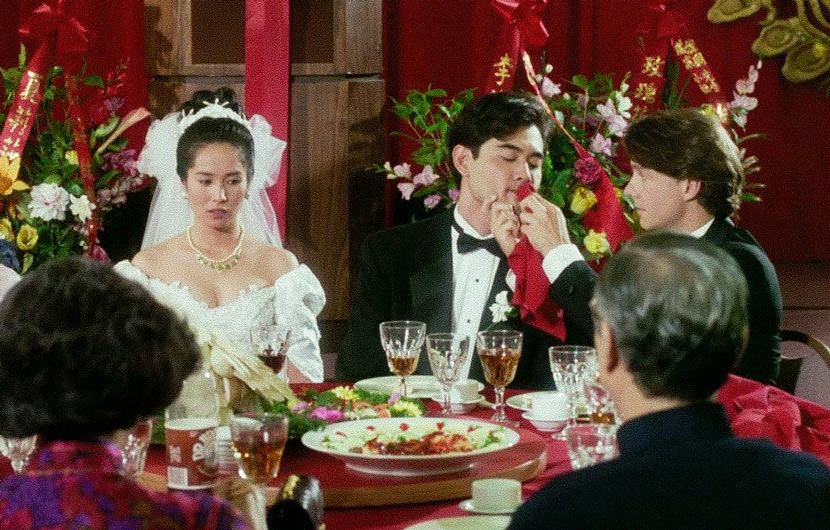 A screenshot from Ang Lee's film 'The Wedding Banquet.' From Douban user '纯属巧合'