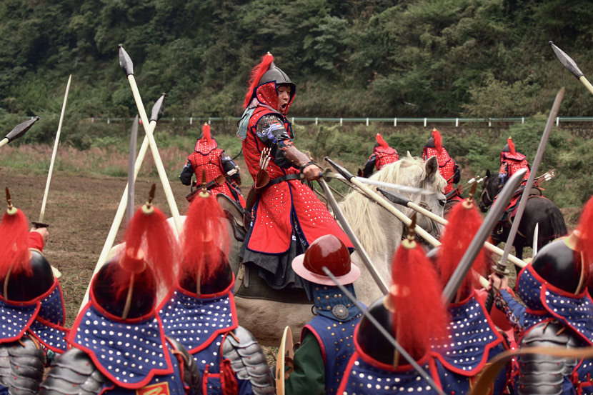 Re-enactors recreate a Ming Dynasty battle in Zunyi, Guizhou province, Oct. 5, 2018. Courtesy of the Armor Alliance