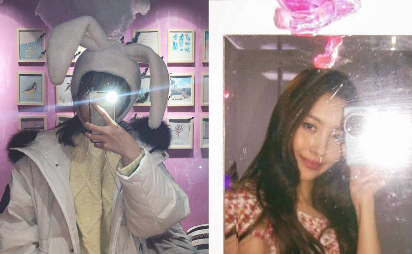 Undated selfie of Zhang (left) and South Korean idol Sunmi (right). Courtesy of Zhang