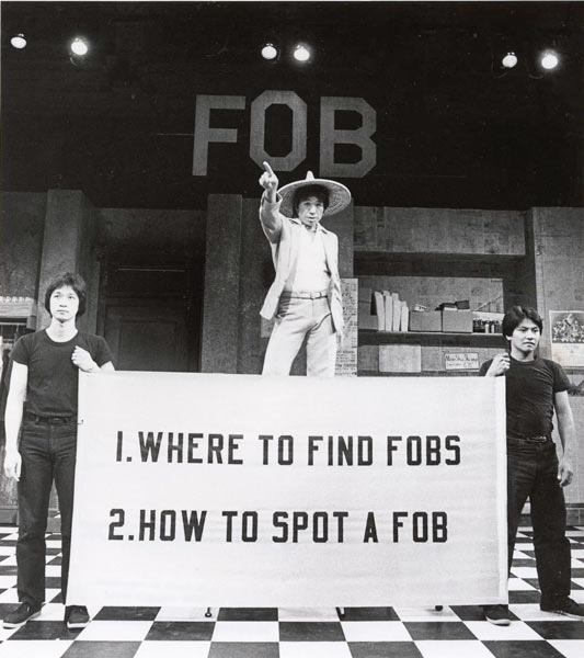 "A photo from a production of ""FOB"" at The Public Theater in New York, 1980. Courtesy of Martha Swope"
