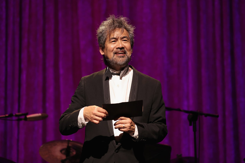 David Henry Hwang speaks onstage at the American Theatre Wing Centennial Gala in New York, Sept. 18, 2017. Jemal Countess/Getty Images/VCG