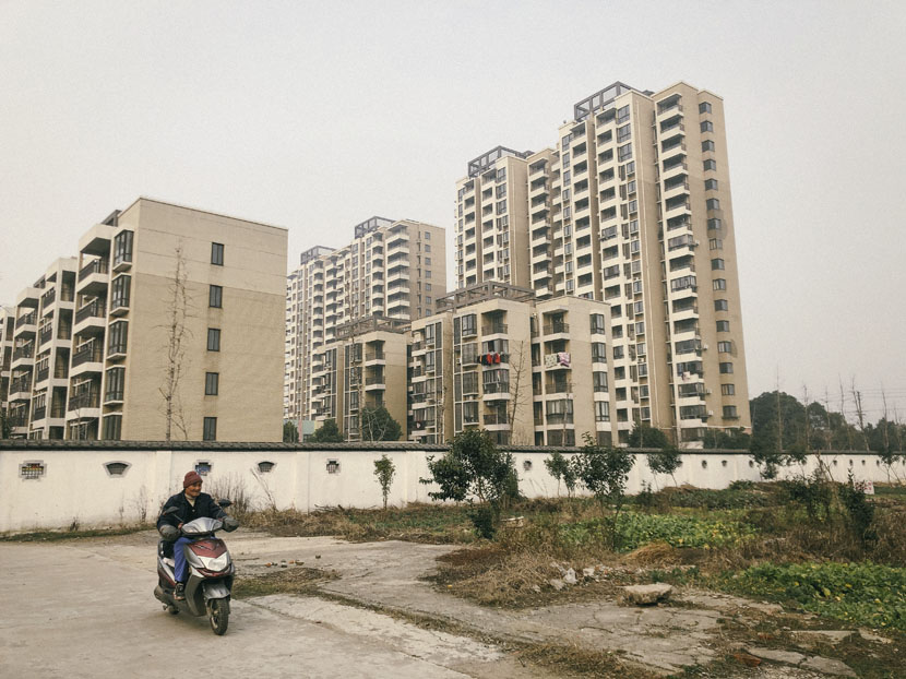 New apartment blocks for the Xinyu Road community, which were built on the sites of former schools in Wuhu City, Anhui province, Jan. 20, 2019. Fu Danni/Sixth Tone
