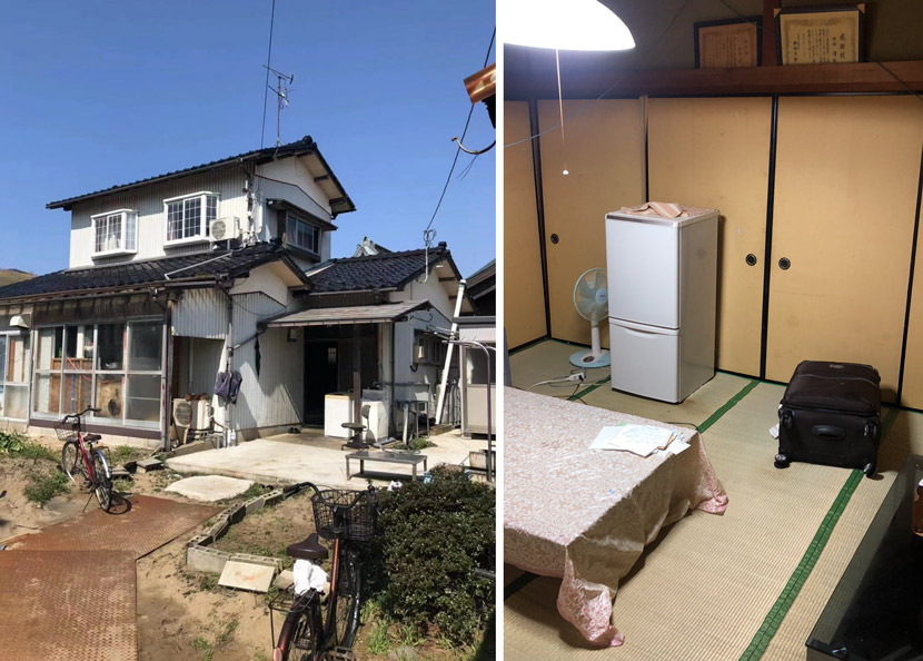 The exterior and interior of a TITP trainee's dormitory in Ishikawa Prefecture, Japan, March 2019. Courtesy of Zhu Shiwei, a trainee who talked with Sixth Tone