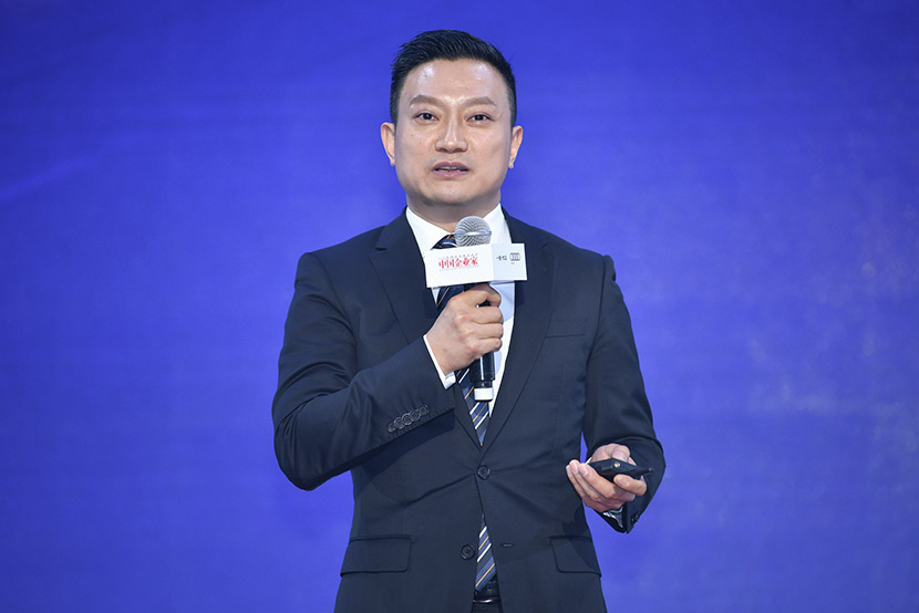 Zhang Ligang, chairman of iKang Healthcare Group, gives a speech at the 2018 China Entrepreneur Summit in Beijing, Dec. 2, 2018. IC