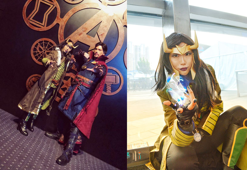 Xi Zifei and her friends cosplay Marvel characters. Courtesy of Xi Zifei