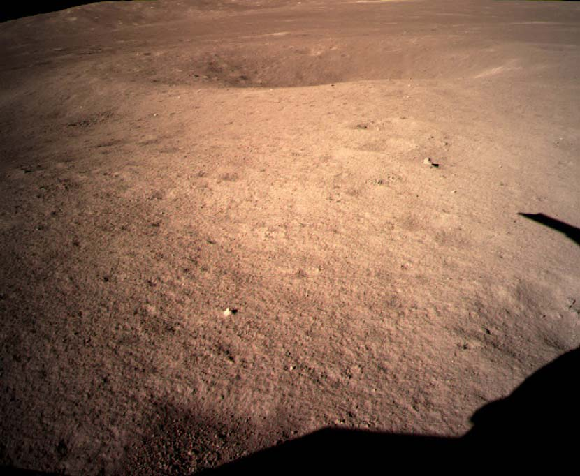 The first-ever image of the far side of the moon, taken shortly after the Chang'E-4 lander touched down in January. Chinese Lunar Exploration Program