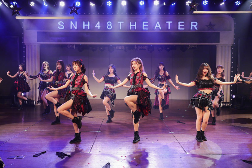 A photo of SNH48 in Shanghai, June 14, 2019. From @SNH48 on Weibo