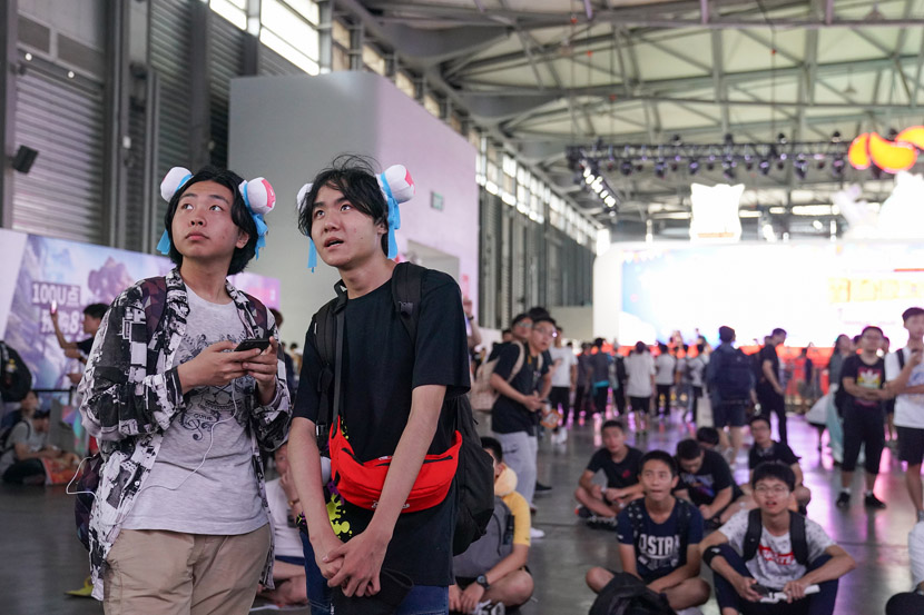 Fans take in a performance during the annual ChinaJoy game convention in Shanghai, Aug. 3, 2019. VCG