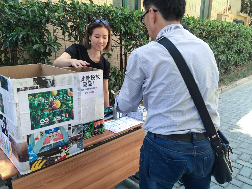 Locals participate in a TerraCycle community event in Shanghai, May 18, 2017. Courtesy of TerraCycle