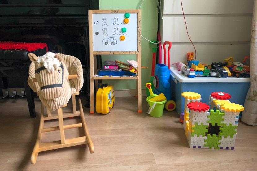 Toys inside Zou Xiaoqi's home in Shanghai, July 20, 2019. Fu Danni/Sixth Tone