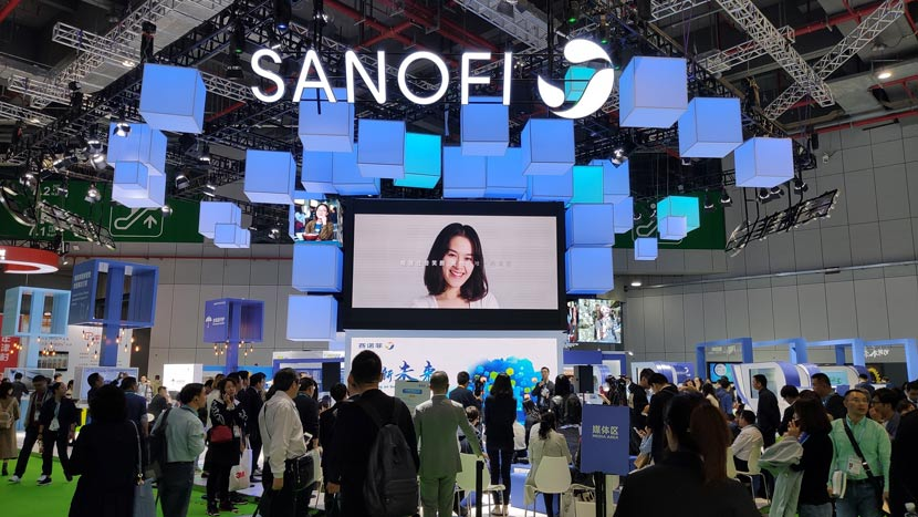 Sanofi's booth during the second China International Import Expo in Shanghai, Nov. 5, 2019. VCG