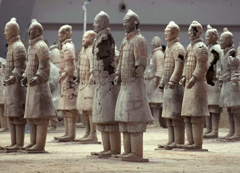 Life-sized terra-cotta warriors at the Emperor Qin Shi Huang Mausoleum Museum in Xi'an, Shaanxi province, June 24, 2018. Tao Zhang/VCG