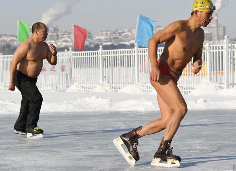 Ice skaters enjoy the winter sun in Nanhu Park in Changchun, Jilin province, Jan. 1, 2020. Zhang Yao/CNS