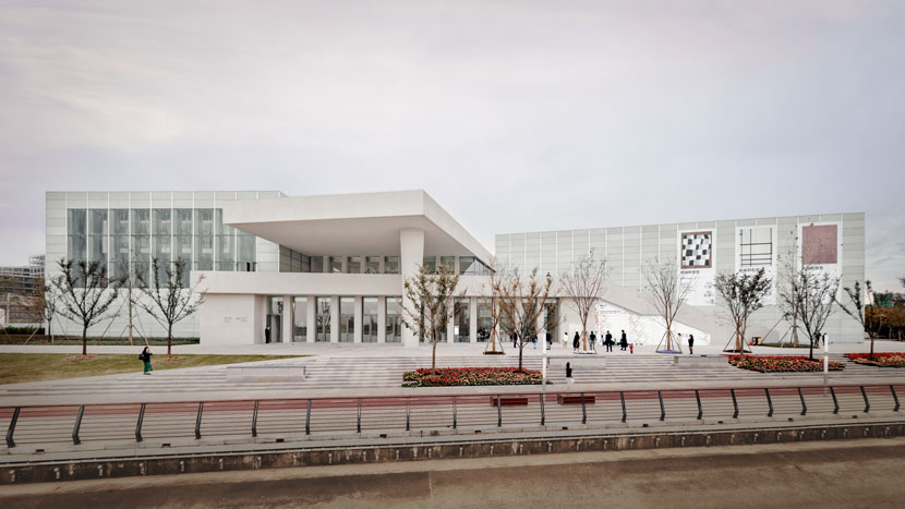 An exterior view of the West Bund Museum in Shanghai. Courtesy of Simon Menges/West Bund Museum