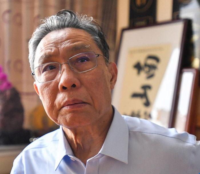 Scientist Zhong Nanshan during an interview with Xinhua News Agency in Guangzhou, Guangdong province, Jan. 28, 2020. Xinhua