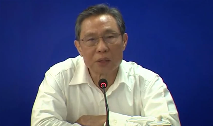 Respiratory disease expert Zhong Nanshan during a press conference in Guangzhou, Guangdong province, Feb. 27, 2020. CNS