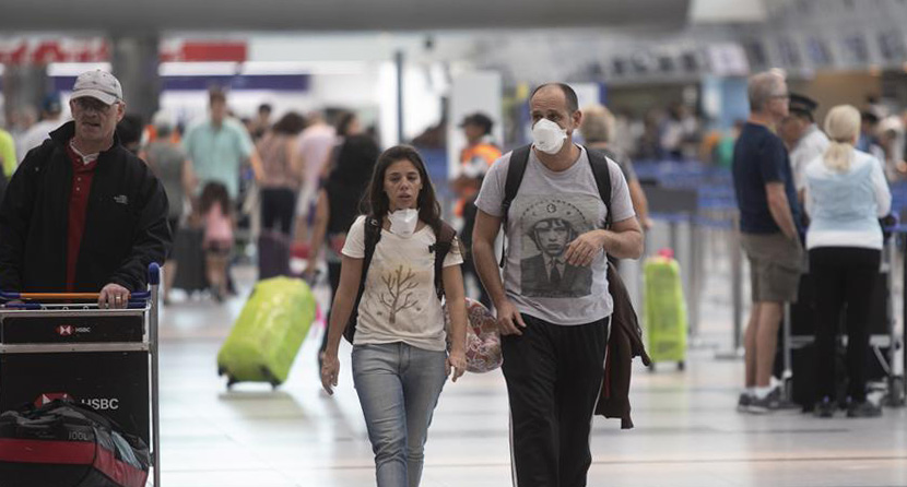 People at an airport in Buenos Aires, Argentina, March 4, 2020. Xinhua