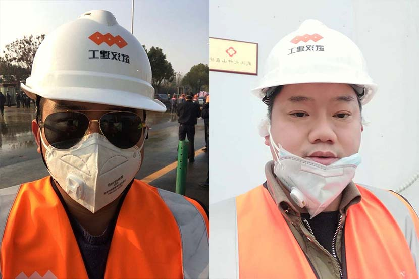 Selfies taken by Liu Jie (left) and Zhu Yong. Courtesy of Liu and Zhu