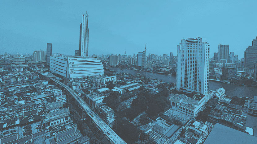 An aerial view of Bangkok taken from the window of the author's Airbnb, February 2020. Courtesy of Liu Bowen