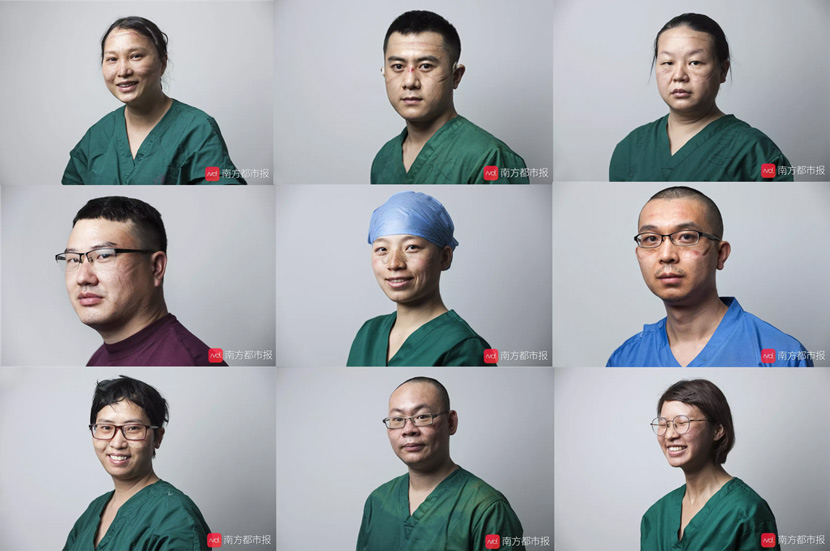 Southern Metropolis Daily's series of close-up portraits of frontline doctors and nurses, published Feb. 14, 2020. Zhong Ruijun/Southern Metropolis Daily