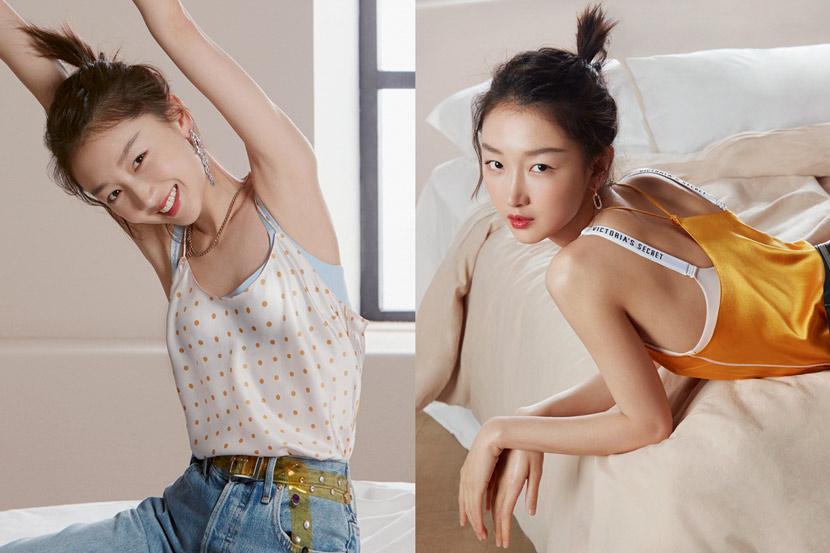 Zhou Dongyu's ads for Victoria's Secret, published on April 2020. From Victoria's Secret's website