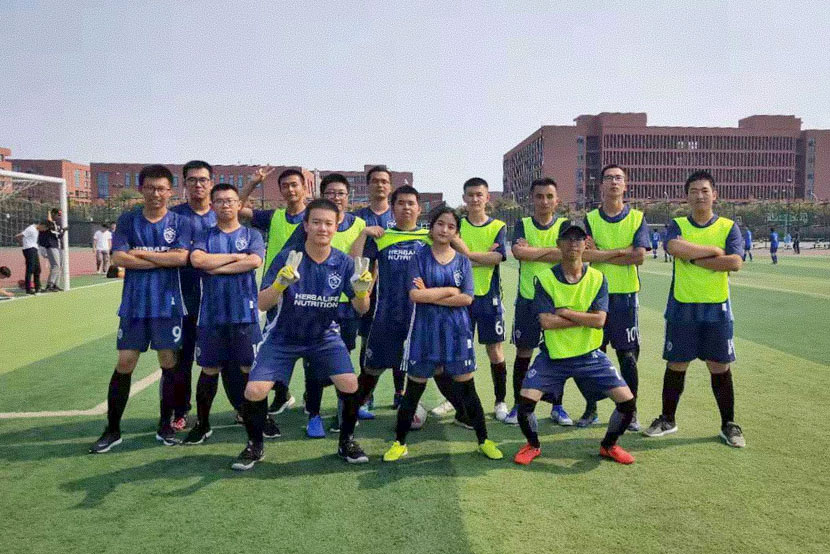 Pubu Droma with her teammates ahead of the Freshmen's Cup at Nankai University, Tianjin, September 2019. Courtesy of the author