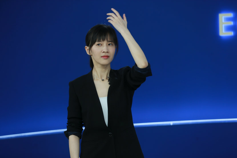 "Papi Jiang during ""Summer Davos"" in Tianjin, Sept. 18, 2018. People Visual"