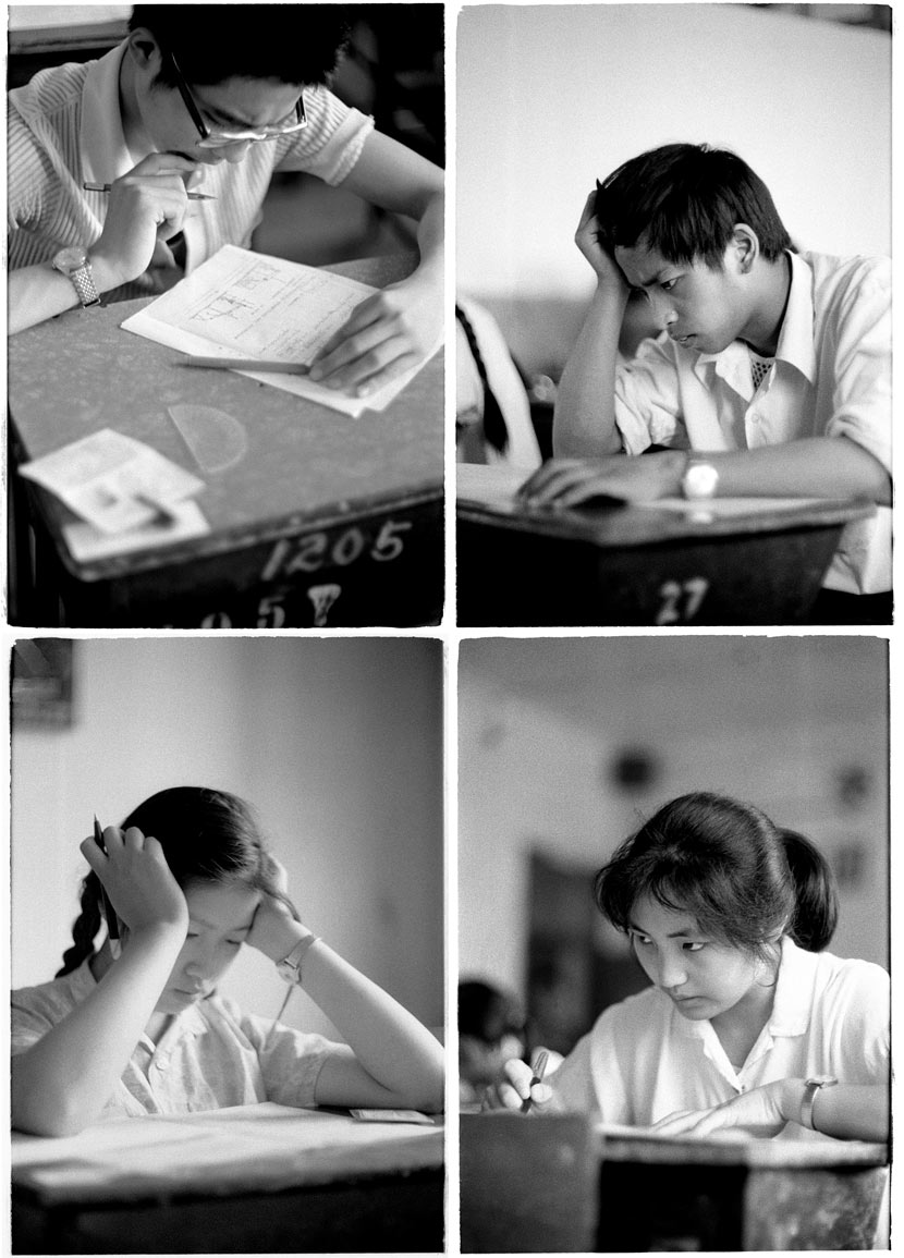 Students work on their exams, Beijing, 1980. Ren Shulin for Sixth Tone
